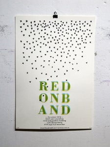 Image of red on band - winter 13/14 - tourposter