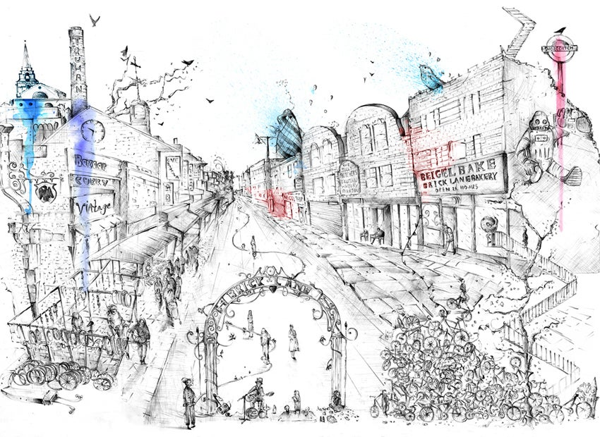 Image of Brick Lane - Limited Edition Print