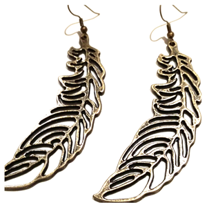 Image of Gold Feather earrings