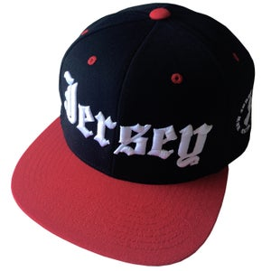 "Image of NJSOM BIG ""JERSEY"" SNAPBACK-RED/BLK"