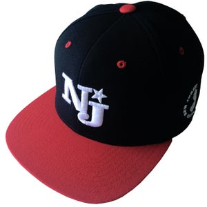 "Image of NJSOM ""NJ"" SNAPBACK-RED/BLK"