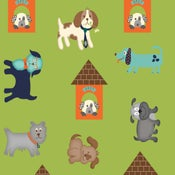 Image of Green Puppy print # 6177-66 from I Love Puppies