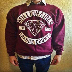"""Image of Millionaires """"OC CLUB"""" Maroon Crewneck"""