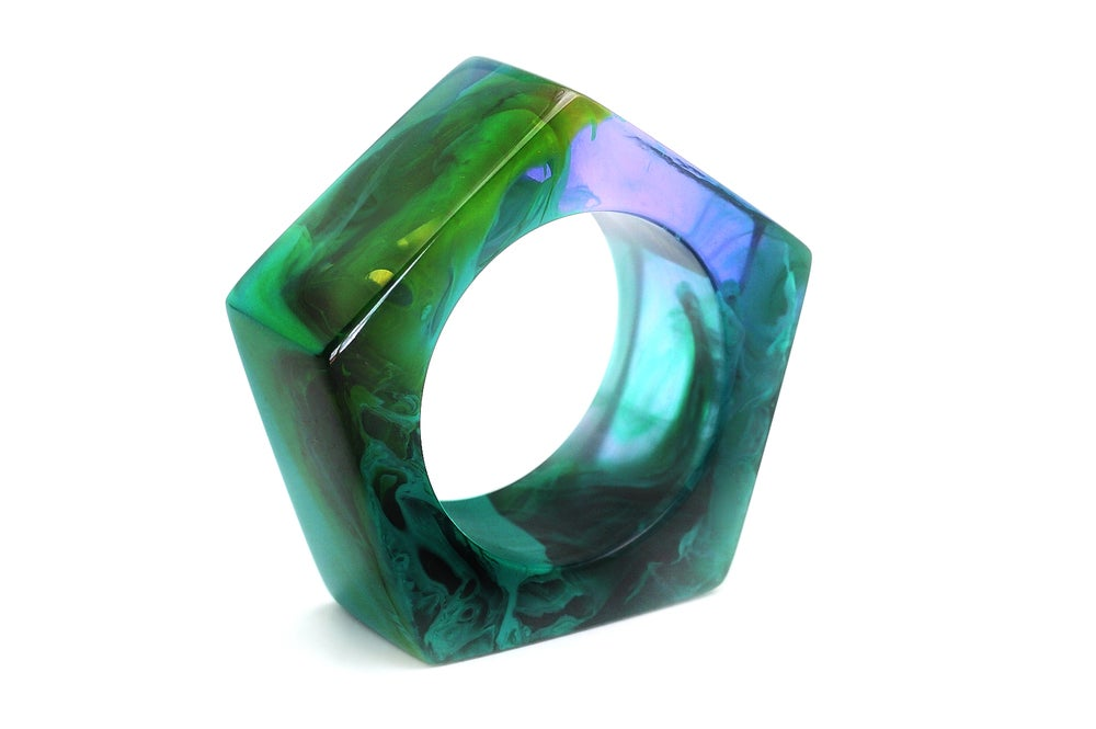 Image of Jade Giant Pentagon Bangle