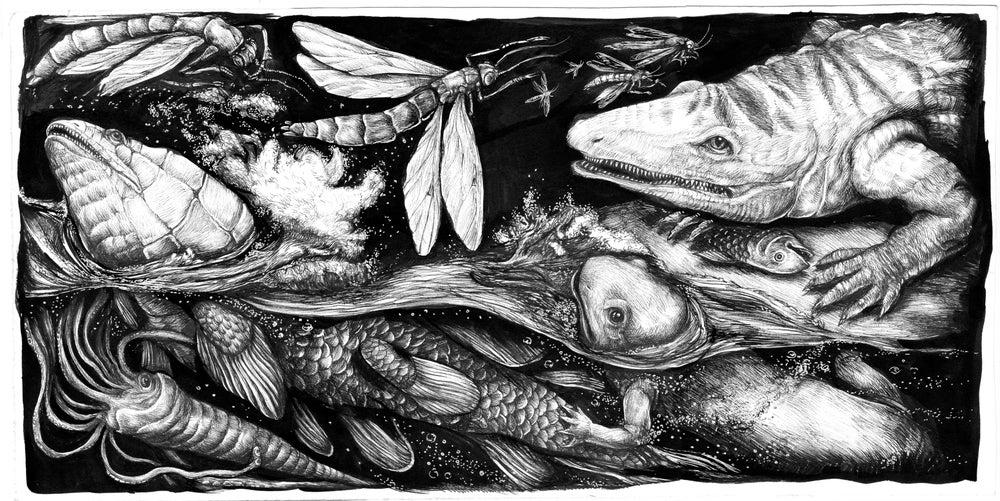 "Image of Sérigraphie Ericailcane ""Fish"""