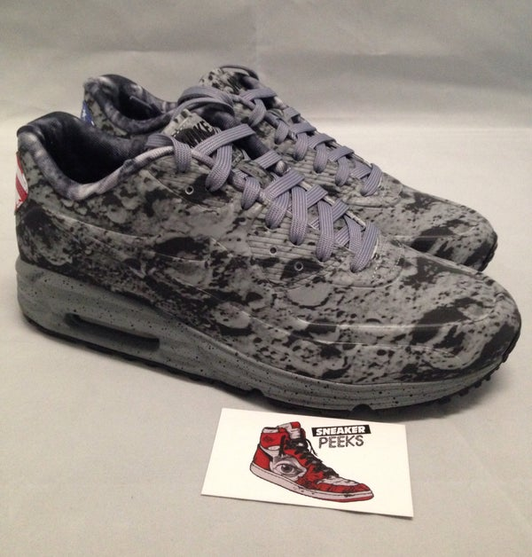 "Image of Nike Air Max Lunar 90 Apollo 11 Neil Armstrong ""Moon Landing"" Size 8 700098-007"