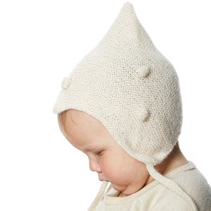 Image of Kids dotted Hat        White/White