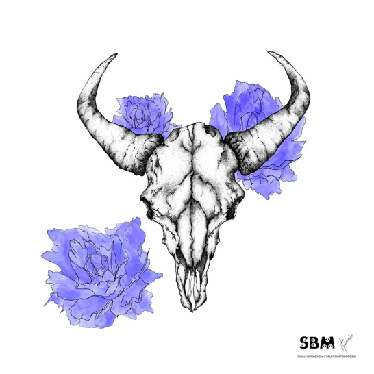Image of Cow Skull Print