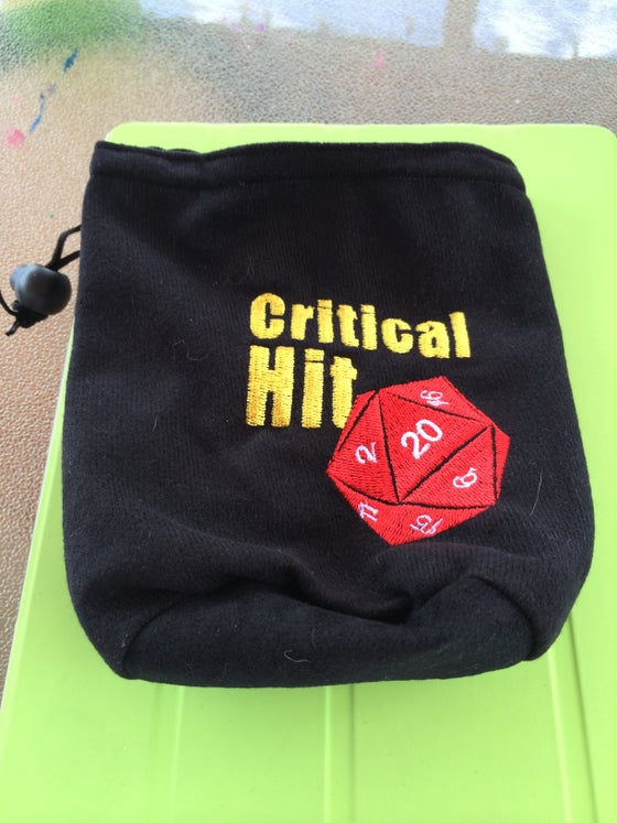 Image of Critical Hit Dice Bag - Embroidered Logo