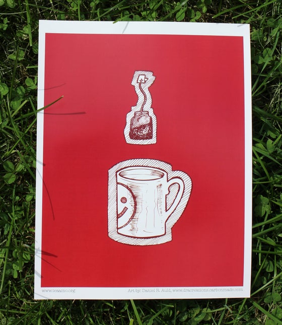 Image of 'Happiness is a Warm Mug' Print