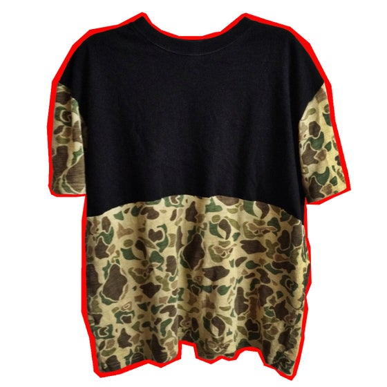 Image of Black And Camo Tee