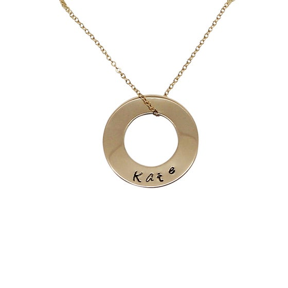 """Image of Medium """"Circle of Love"""" Necklace - 18ct gold filled"""