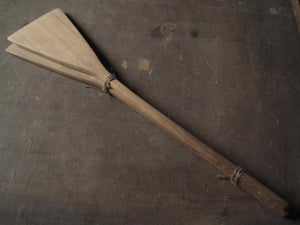 "Image of HAND CARVED SPATULA SET OF TWO 14"" (35.56 CMS)"