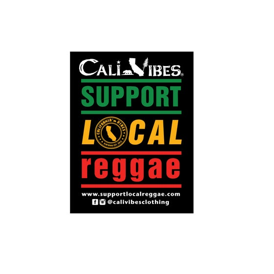 Image of *SOLD OUT* SUPPORT LOCAL REGGAE STICKER