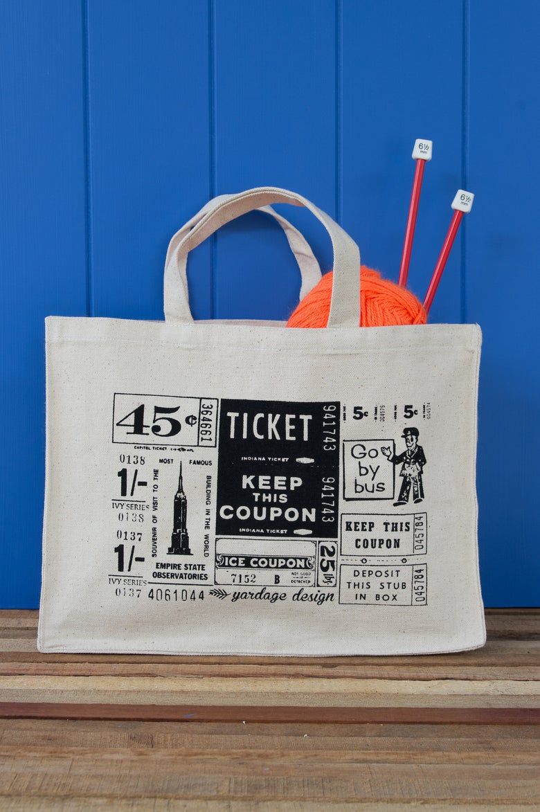 Image of Vintage Tickets Hand Bag