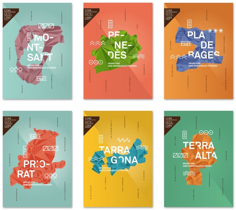 Image of Catalan wines posters (II)