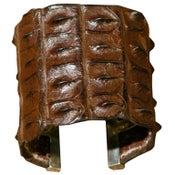Image of Crocodile and Sterling Silver Cuff