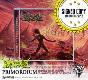 Image of PRIMORDIUM - Aeonian Obsolescence CD / Digipack SIGNED COPY!