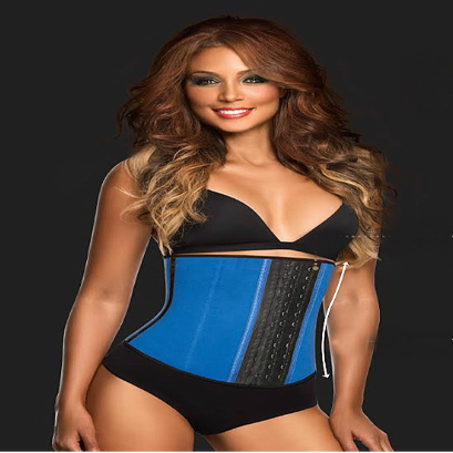 Image of (NEW) The Glam Body 3 Hook Deportiva Sport Latex Waist Cincher Body Shaper