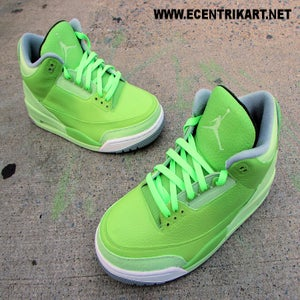 "Image of Air Jordan 3 ""Lemon Lime"" Custom"