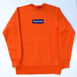 Image of Orange/Blue Box Logo Crewneck