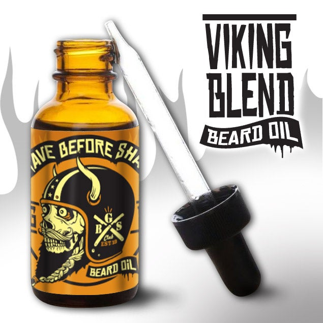 Image of GRAVE BEFORE SHAVE Viking Blend Beard oil/T-shirt combo
