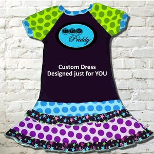 Image of Custom Dress Designed just for YOU by Sew Priddy (6-12Mo. to size 13/14)