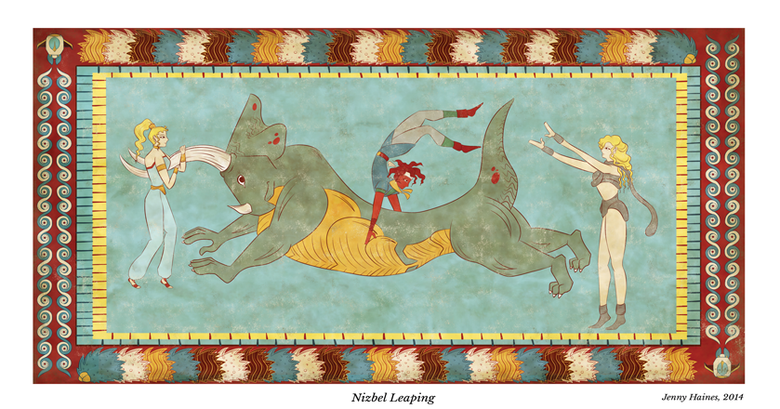 Image of Nizbel Leaping - A3-Width Poster