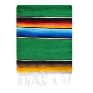 Image of Mexican Serape, Baja Green