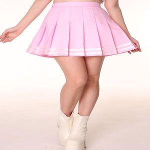 Image of Made To Order - Baby Pink Cheerleading Skirt