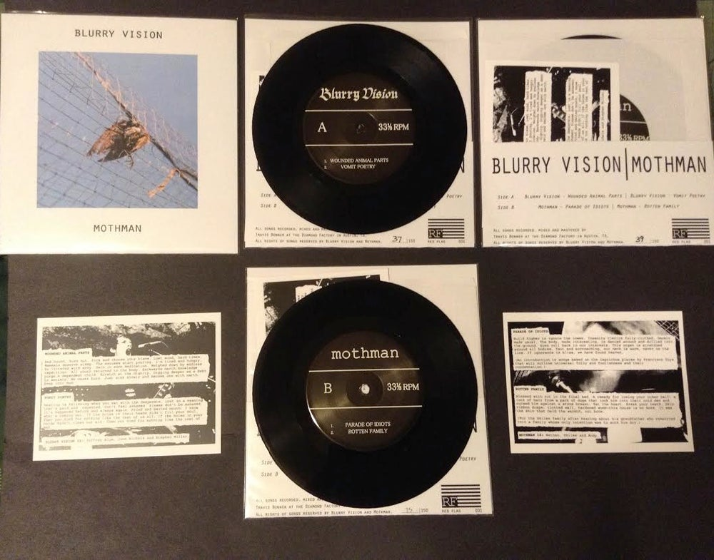 Image of RF001 Blurry Vision/Mothman Split 7""