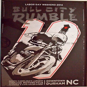 Image of Bull City Rumble 10 Large Hand-Screened, Signed Ltd. Ed. Poster