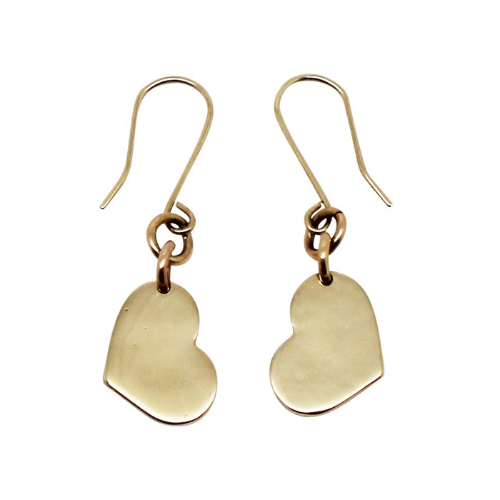 Image of Little Heart 9K Gold Earrings