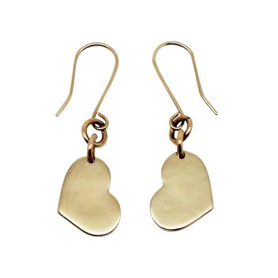 Image of Little Heart 9K Gold Earrings