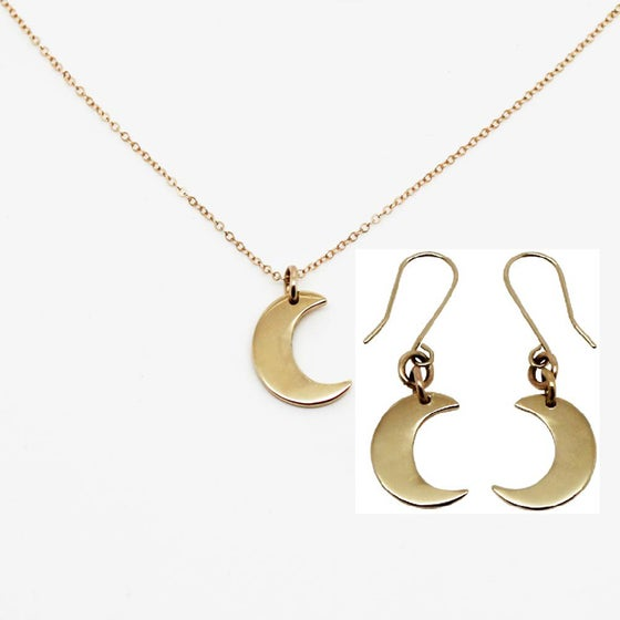 Image of Little Moon 9K Gold Gift Set