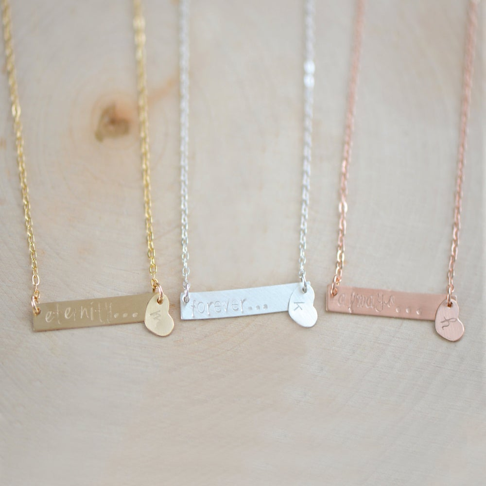 Personalized Bar Necklace Name Plate Necklace Rectangle