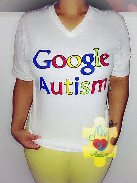 Image of Google Autism Awareness V-Neck Shirt