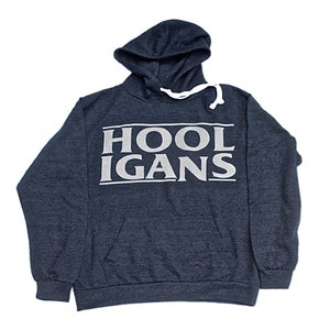 Image of LOGO HOOD - HEATHER NAVY