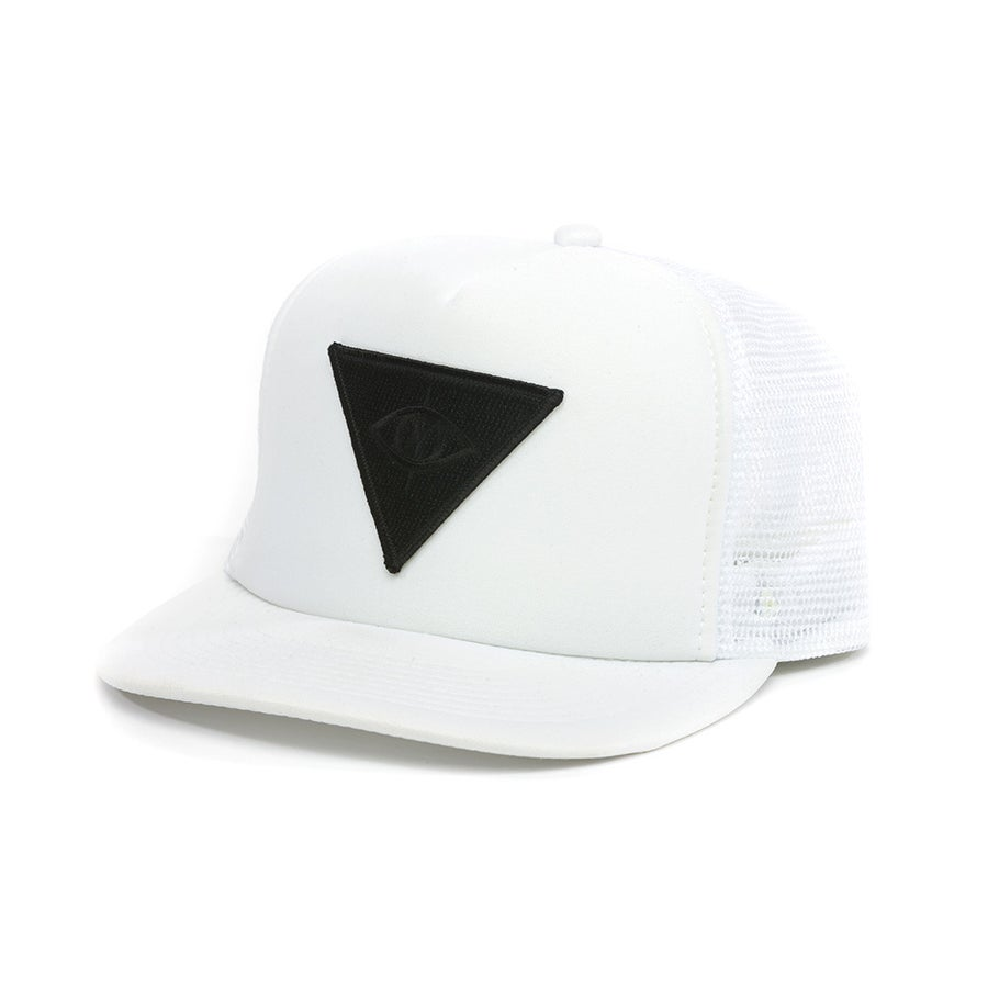 Image of THIRD EYE MESH SNAPBACK [ white ]