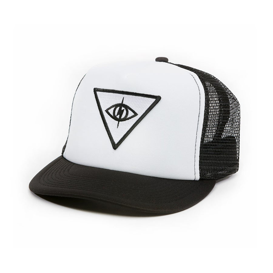 Image of THIRD EYE MESH SNAPBACK [ blk/white ]