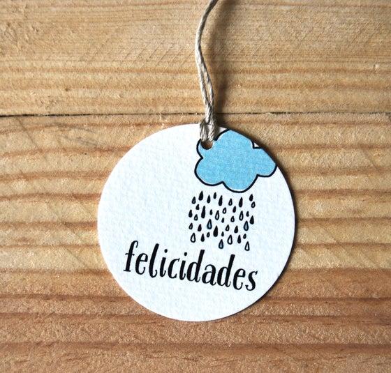 """Image of ETIQUETAS REGALOS """"FELICIDADES"""""""