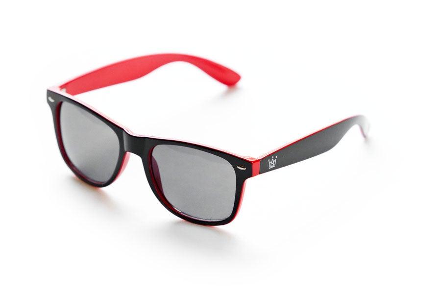 Image of AMK WAYFARER SUNGLASSES / RED & BLACK