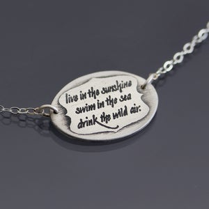 Image of Silver Emerson Quote Necklace MADE TO ORDER