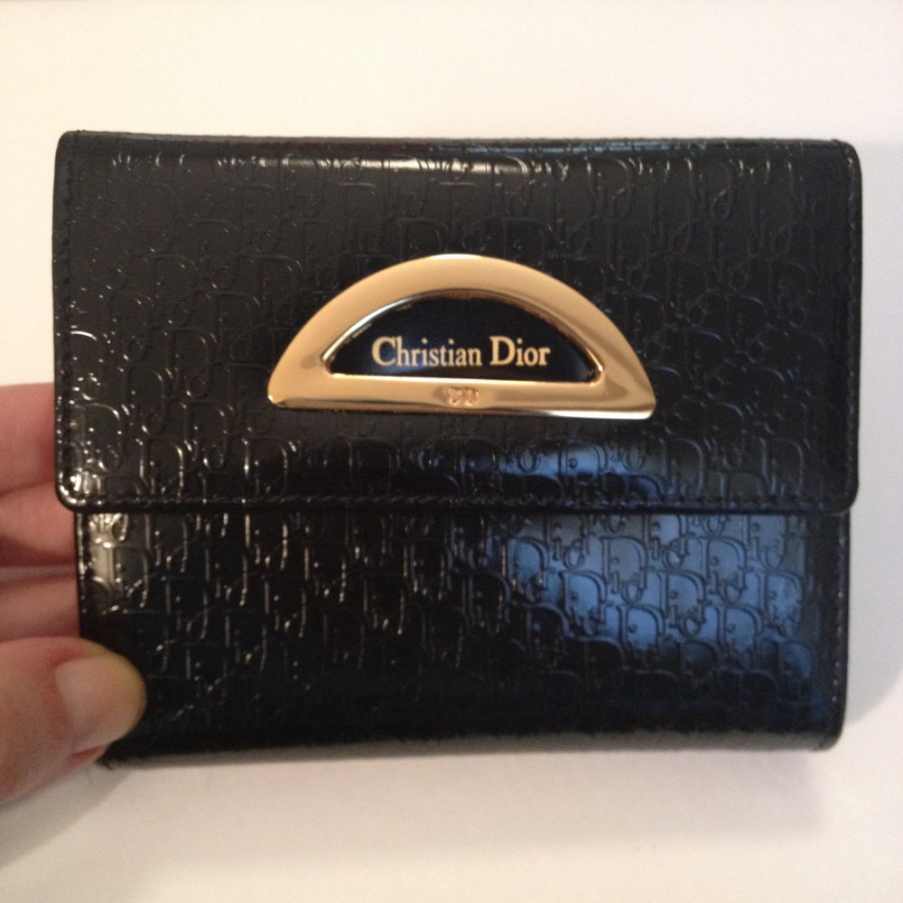 Image of SOLD OUT Christian Dior Authentic Vintage Bi-Fold Wallet Purse New In Box