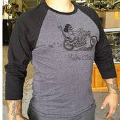 Image of 3/4 Sleeve Grey and Black Mucho Love Shirt