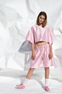 Image of Gathered silk shorts- ON SALE