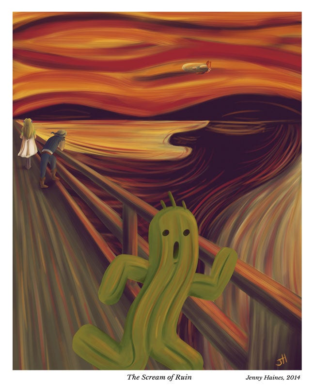 Image of The Scream of Ruin - A4-Width Poster *NEW*