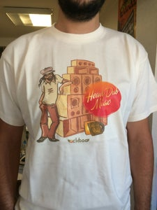 "Image of T-shirt ""Heavy Dub Music"" - man - brown"