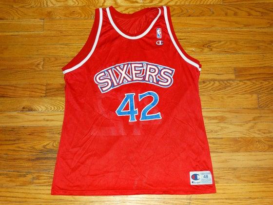 "Image of (48) Philadelphia 76ers ""Jerry Stackhouse"" Champion Jersey"