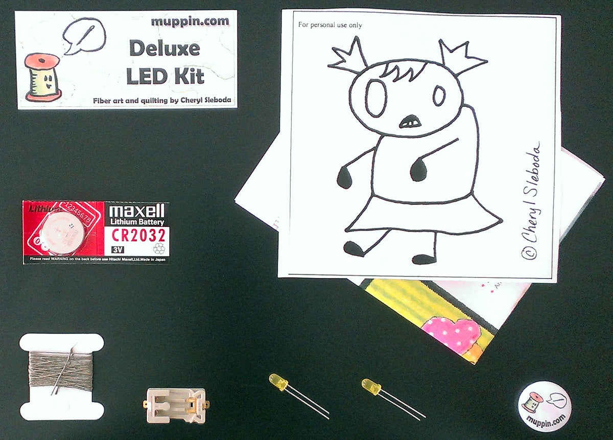 Image of Deluxe LED e-Textile Sewing Kit